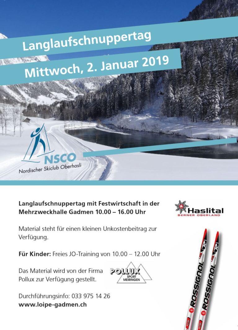 Flyer Schnuppertag 2019